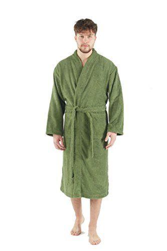 2368c3969a Bagno Milano Mens Terry Robe 100% Pure Turkish Cotton Kimono Style Bathrobe   fashion