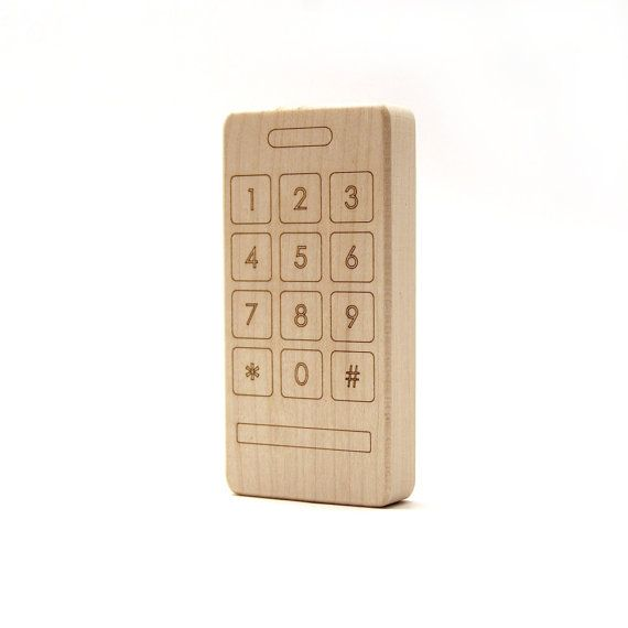 Wooden Phone Teether!
