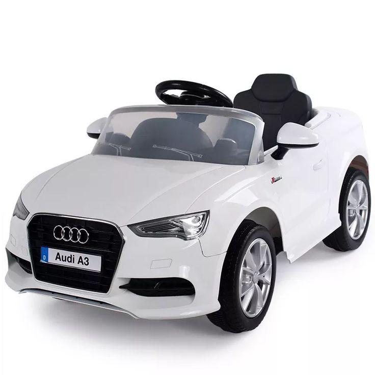 Auto A Bateria Audi A3 12v Mp3 Con Control Blanco Original E - $ 8.299,00 en Mercado Libre