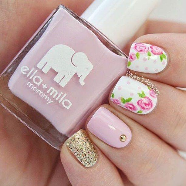 by @paulinaspassions too cute  Hiiii  #nail #nails #nailart #art #love #inlove #bae #heart #pretty #cute #fashion #design #awesome #cool #beauty #beautiful #happy