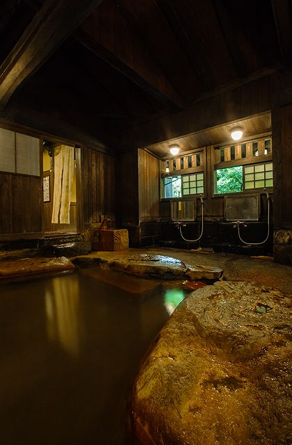 Hot Spring at Sanga Ryokan, Kurokawa Onsen, Kumamoto