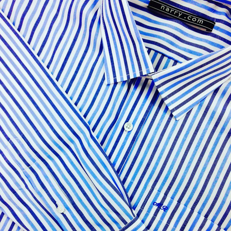 Pinstripe Shirt custom tailored by Narry Tailor #pinstripe #customtailor