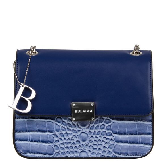 dd5522ac7b3 Cross body bag Joyce croco print in blue by Bulaggi | crossbody tas Bulaggi  Joyce in het blauw met crocoprint