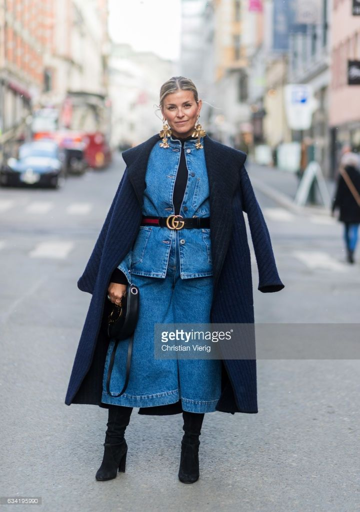 Janka in our full denim outfit from BLUE by Tom Wood.