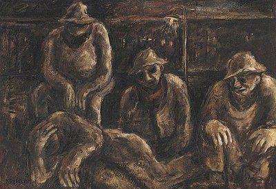 Yosl Bergner (b1920)  Tocumwal LoadingTrain. 1944