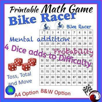 Cool, printable Math board games!  These games cater for all age students because you can alter the difficulty by the number of dice used.  Learn and have fun. SUCCESS! Kids love these!