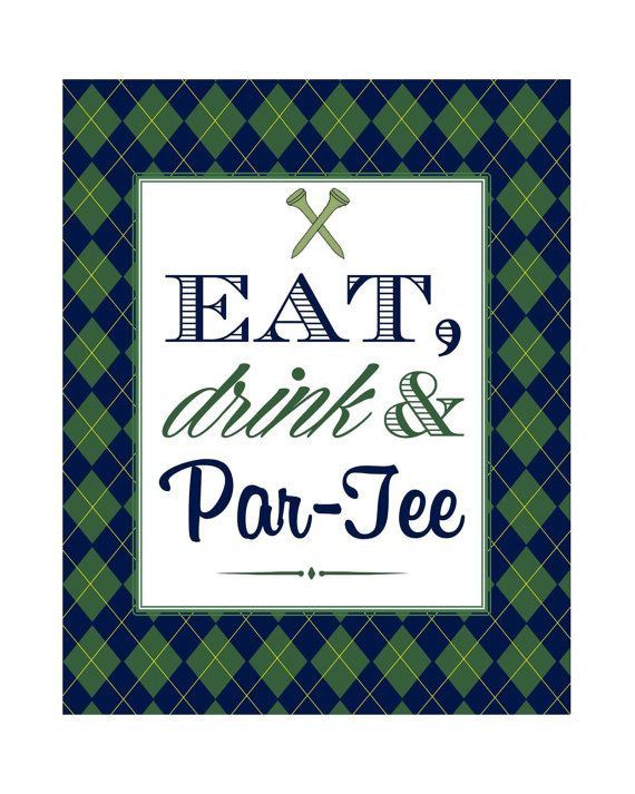 Eat Drink and Par-Tee Golf Birthday Party by MSPrintables on Etsy