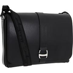 Salvatore Ferragamo Boston Messenger Bag Black - Zappos Couture