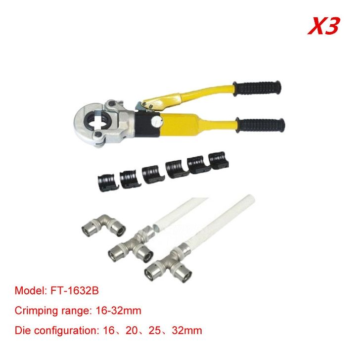 223.00$  Buy here - http://alibsj.worldwells.pw/go.php?t=32729387680 - 3pcs/lot Hydraulic Fitting Tool FT-1632B for PEX pipe fittings PB pipe Copper AL connecting range 16-32mm