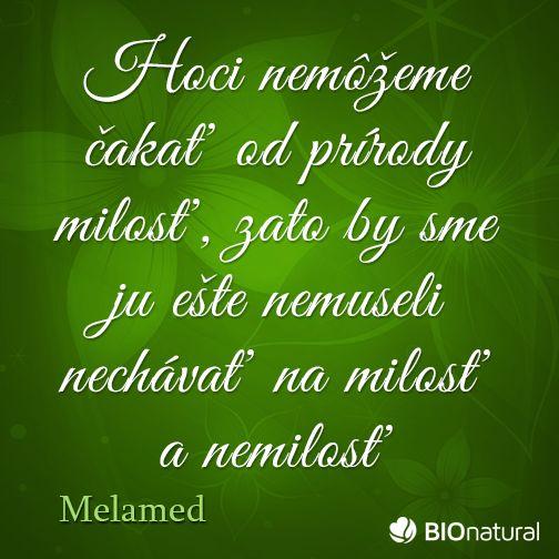 Citát o prírode od Melameda #citaty