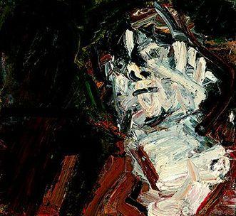 AUERBACH, Frank  Head of J. Y. M., 1978  Oil on canvas  61 x 66 cm     Museo Thyssen-Bornemisza, Madrid