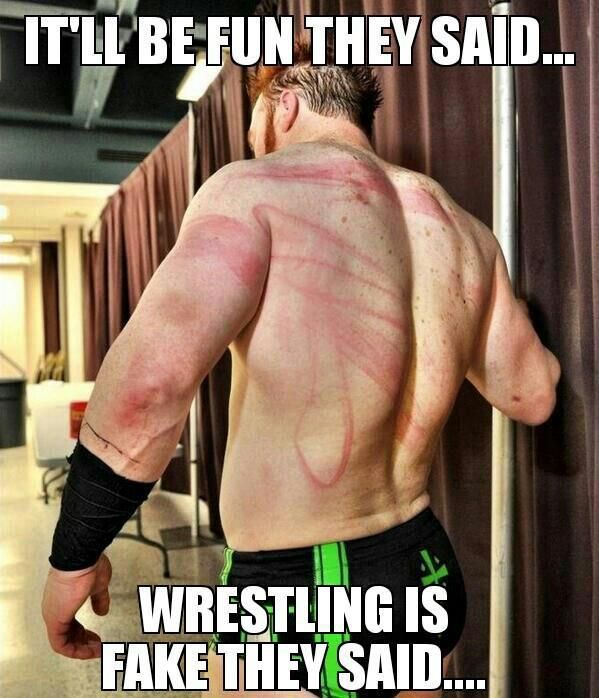 To all the idiots who say that wrestling is all fake. -.-