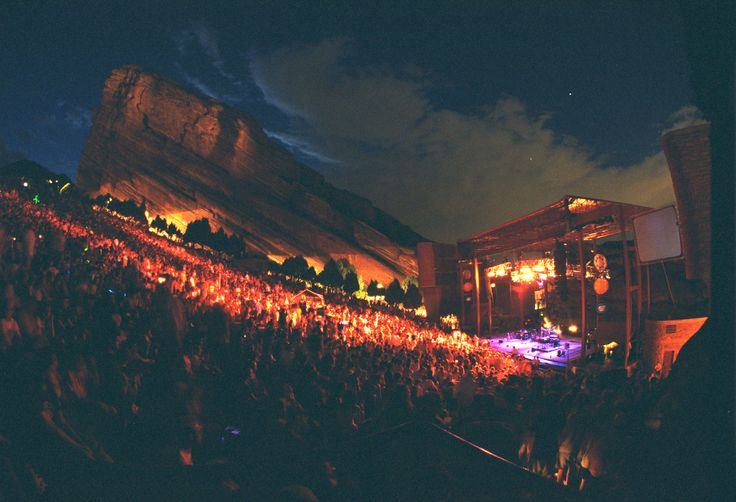 This is Red Rocks Amphitheater on the outskirts of Denver, Colorado. I've seen quite a few concerts here back in the 60's.