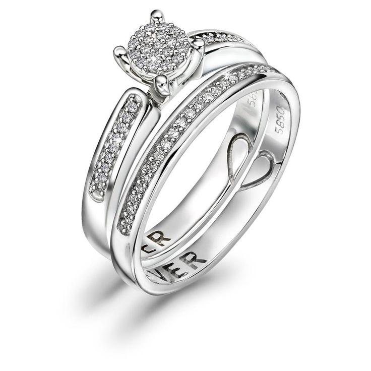 2 i én ring - Ring i gull med diamant 0,16ct WSI - Juvelen gullsmed