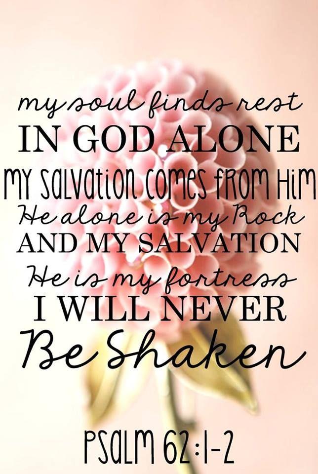 In God alone. . . .