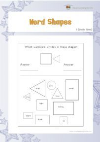 Word Shapes 5 - Individual File Download