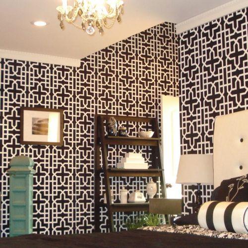 Arbor Black Lily Wallpaper Tiles