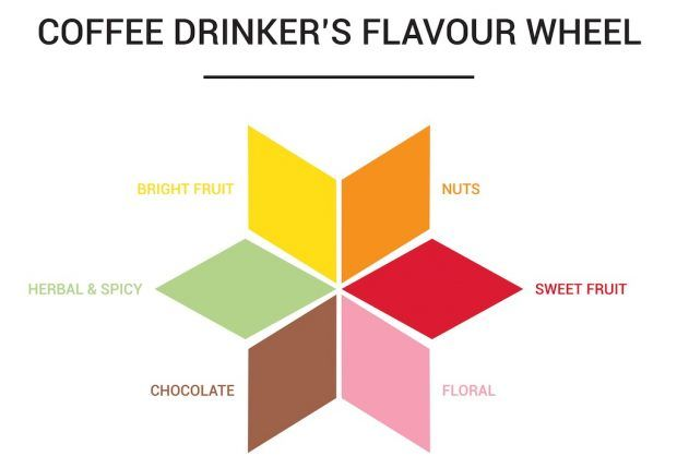 The coffee drinkers flavor wheel. Image courtesy of Cuperus.