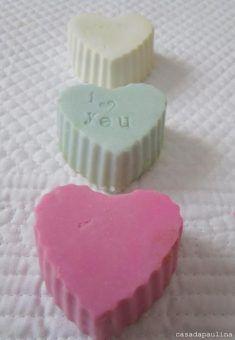 Corazón de jabón natural