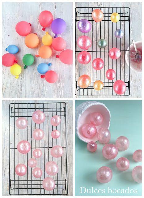 Chocolate raspberry ombre cake with gelatin bubble - Pastel degradado de chocolate y frambuesa con burbujas de gelatina