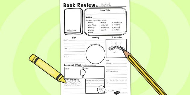 children s book review template ks2