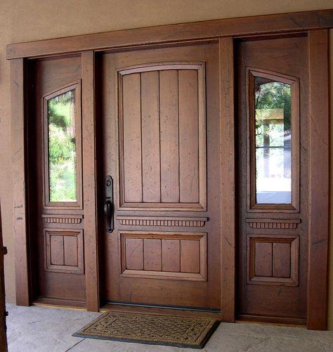 wooden door design. Puerta de madera. Stratum Floors. www.stratum-floors.com.mx