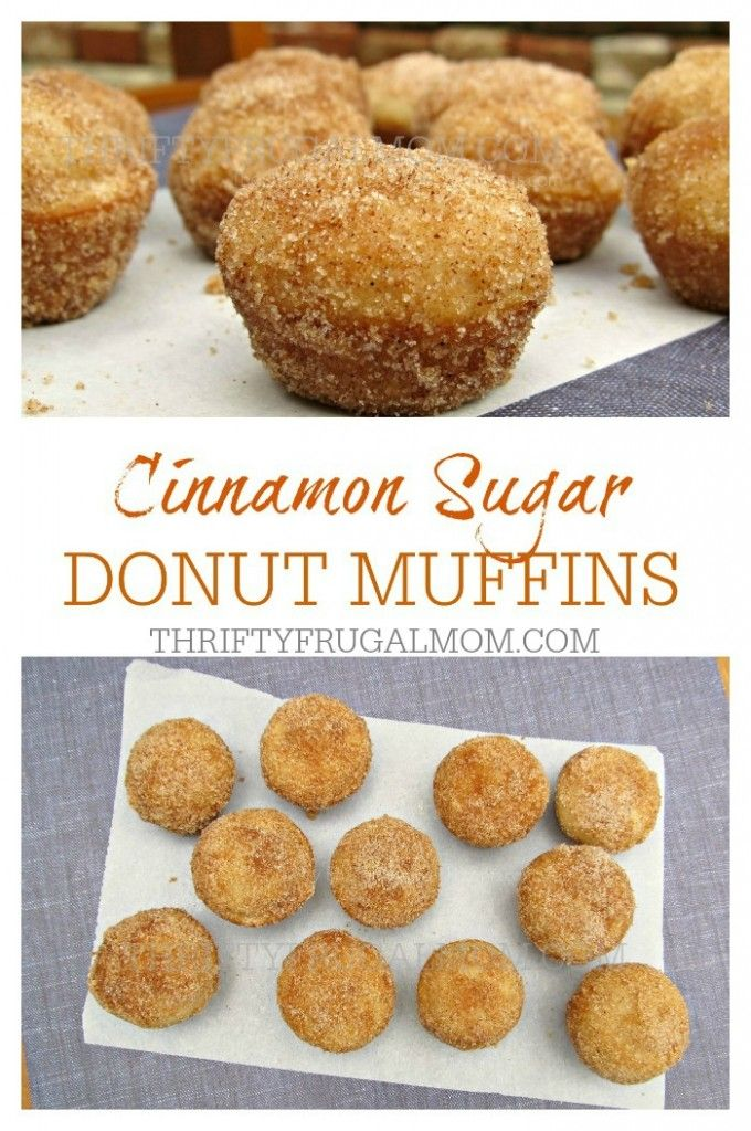 Cinnamon Sugar Donut Muffins- Healthier than a donut, but just as delicious and perfect to munch on anytime!