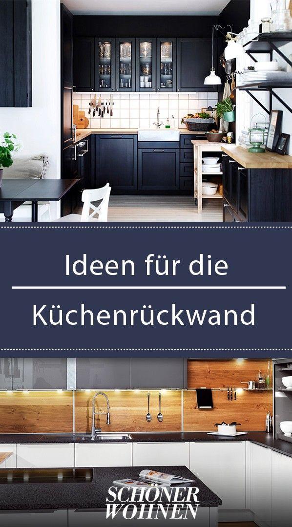 Küchenrückwand: Ideen aus Glas, Metall, Fliesen, Holz
