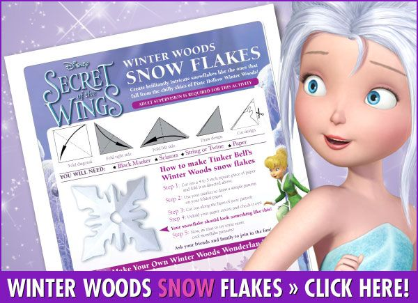 Keep the kids busy Winter Woods Snow Flake Activity From Secret of the Wings