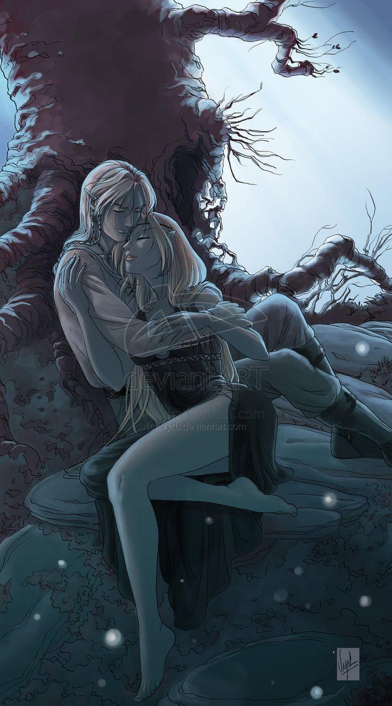 Nathyrra et Elrohir by Vyrhelle-VyrL on DeviantArt