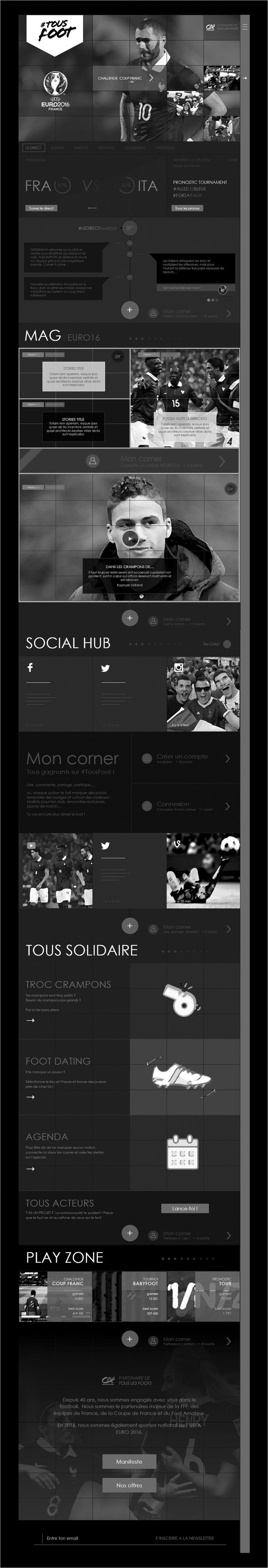 wireframe euro 2016 le match en direct tous foot credit agricole
