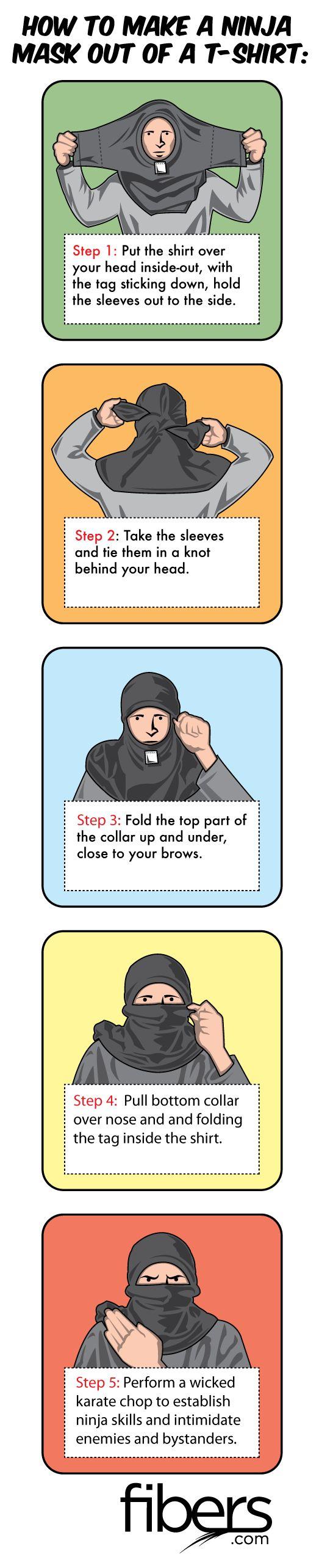 Make a Ninja Mask from T-Shirt