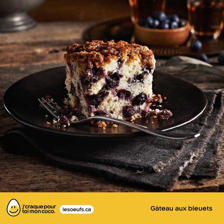 Gâteau aux bleuets | lesoeufs.ca | #Oeufs