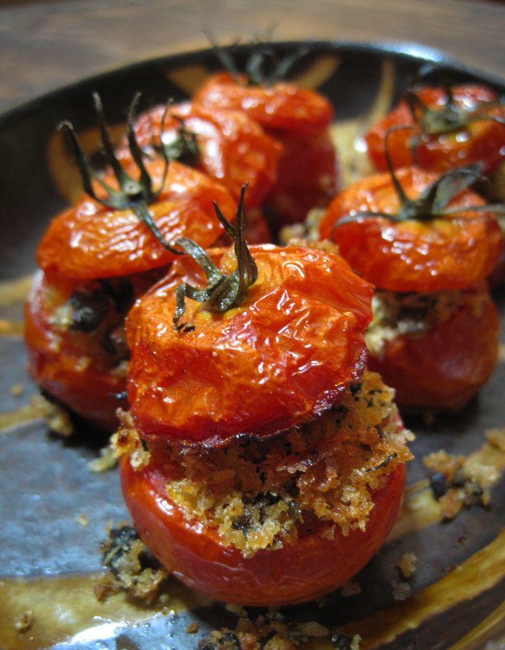 Herb-stuffed tomatoes.