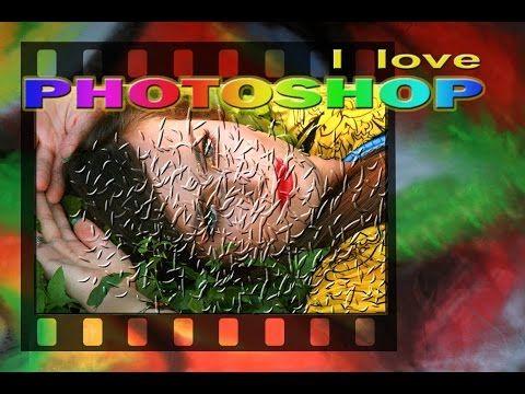 Photoshop tutorial italiano - Effetto rilievo creativo, fotomontaggio photoshop - YouTube