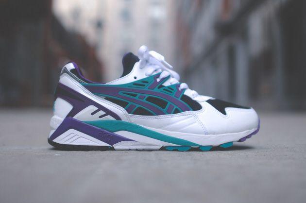 Asics Gel Kayano White Black Purple Sneakers Sneakers Men Mens Fashion Shoes