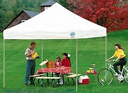 EZ up tent great for camping and school events! #ezuptent