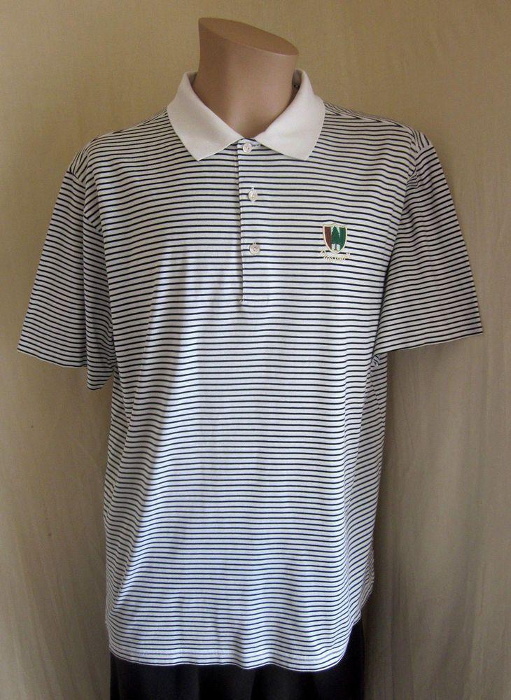 PETER MILLAR Men's Black White Stripe PINE VALLEY Logo