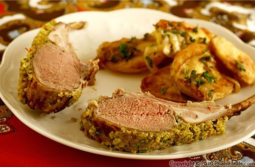 Lamb Chops with Kumquat Walnut Crust   iCook   Pinterest