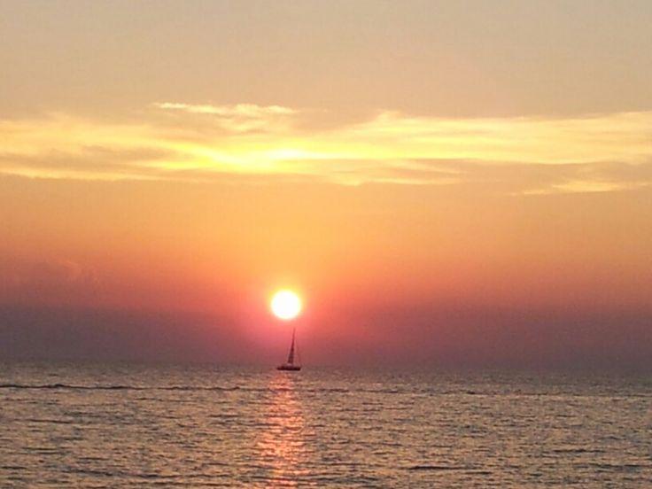 Sailing in the sun
