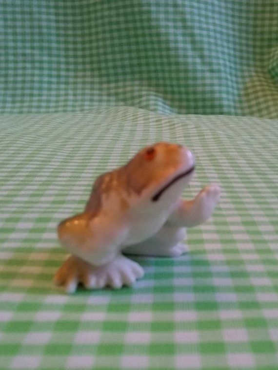 Vintage Toad or Frog Figurine Bone China Miniature for