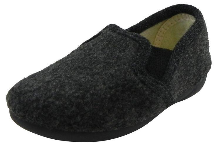 Cienta Kid's 117000 Dark Grey Slipper