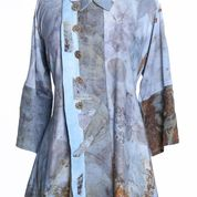 Eco print rayon and linen