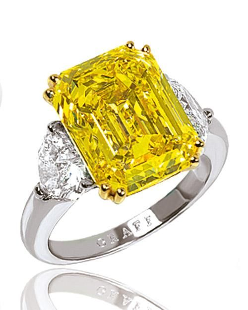 emerald cut yellow with fancy shaped
