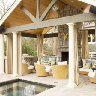 Patio Furniture   Check Out The Outdoor Drapery Idea.