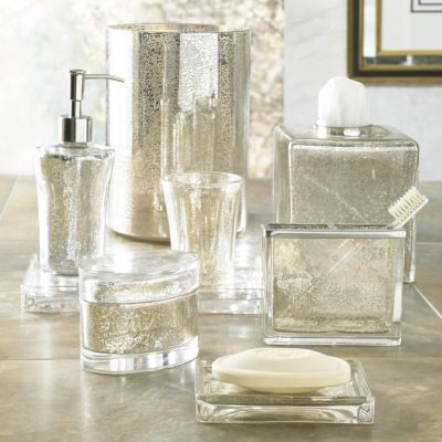 bathroom countertop accessories sets. vizcaya mercury glass bathroom accessories crafted from sparkling glass, our bath illuminate with a delightful shine. countertop sets