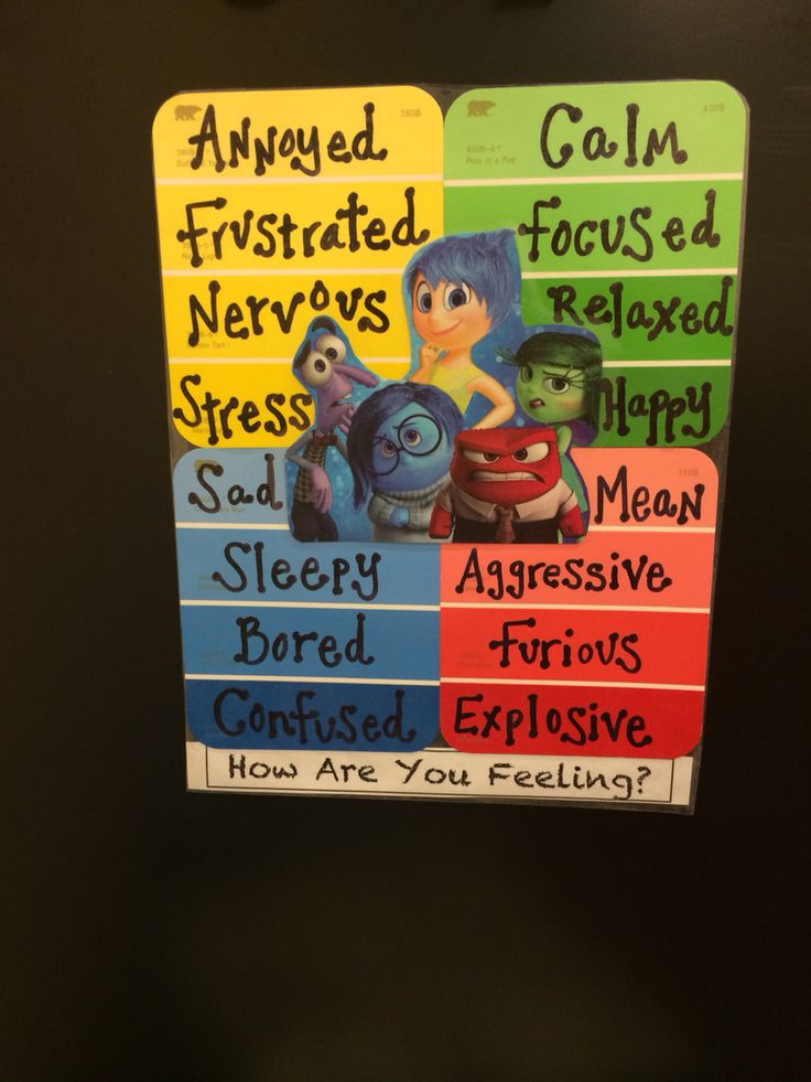 Inside Out Feelings Chart-use paint swatches for students to make individual charts!