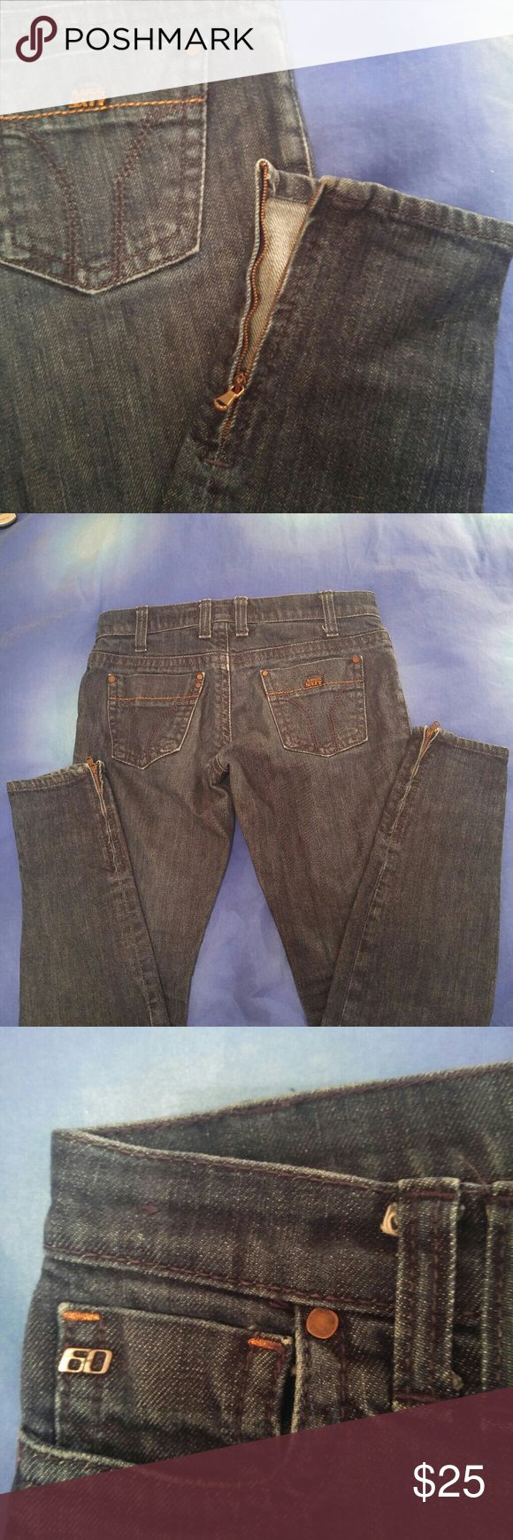 Miss Sixty jeans Size 27 by Miss Sixty. Zippers on the bottom. Logo detail on back pocket. Used but like new condition. Miss Sixty Jeans Skinny