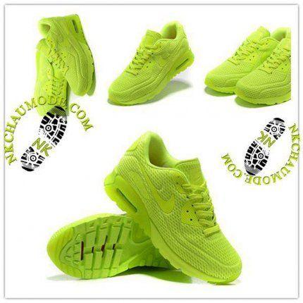 Mode   Nike Chaussure Sport Air Max 90 2016 Femme Nouveau High Frequency Vert Fluorescent