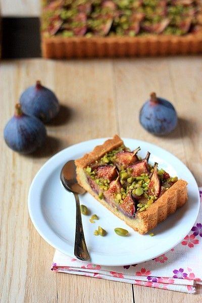 TarteFigue Tarte aux figues (crème amandine à la pistache)